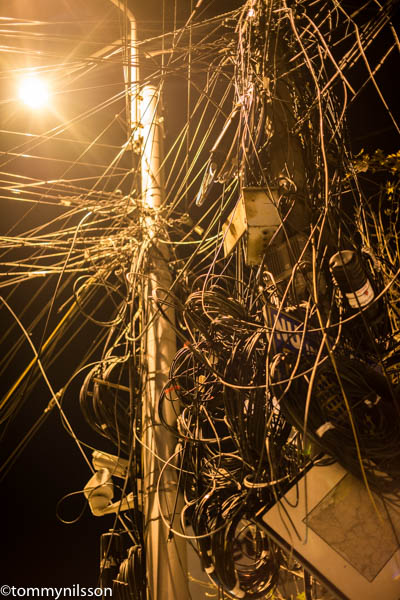 Wire nest. Street of Calea Mosilor. Bucharest