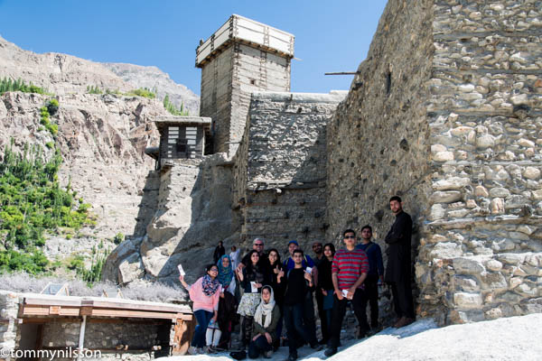 Med students from Islamabad wanted a picture with us at the Altit Fort