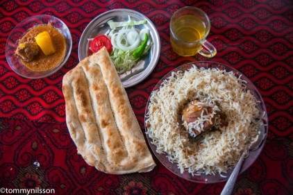 Typical lunch at a chaikhana