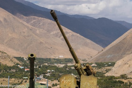Panjshir valley behind the Soviet weapons.
