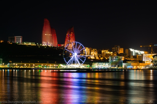 Baku at night._
