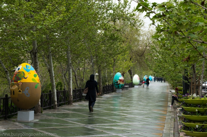 Easter Eggs in Saei park, Tehran