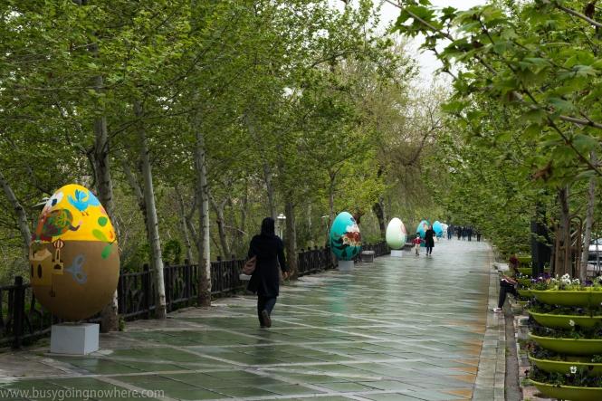 Easter Eggs in Saei park, Tehran