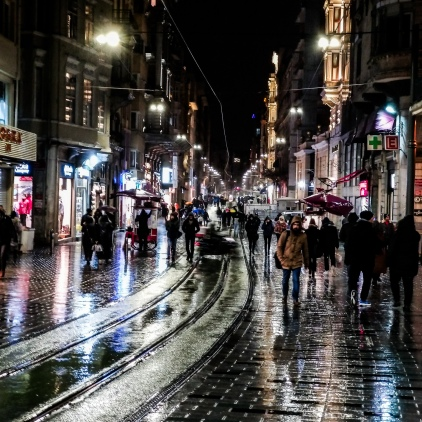 Istiklal Cd., Istanbul in the rain