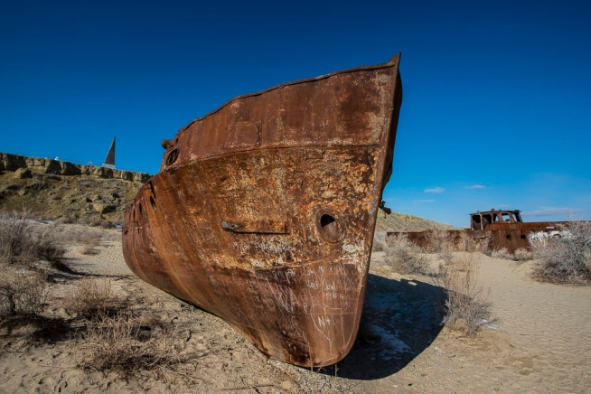 The ship cemetery in Moynaq