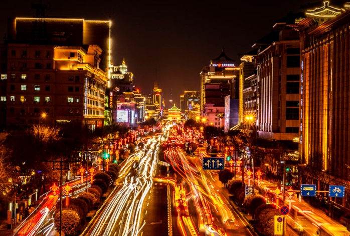 412 Bell tower in Xi'an city center
